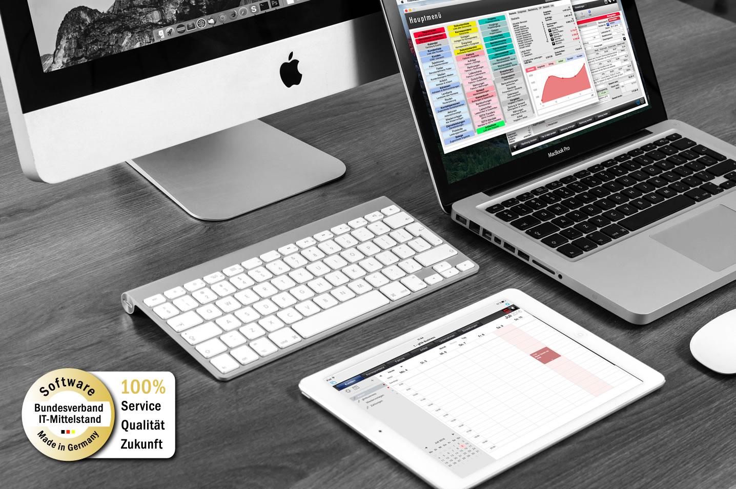 gFM-Business ERP-Software für Mac, Windows und iOS