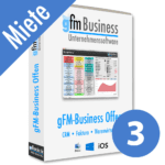 gFM-Business Offene Lizenz Miete + Hosting für 3 Benutzer