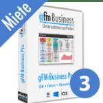 gFM-Business Professional Miete + Hosting für 3 Benutzer