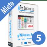 gFM-Business Professional Miete + Hosting für 5 Benutzer