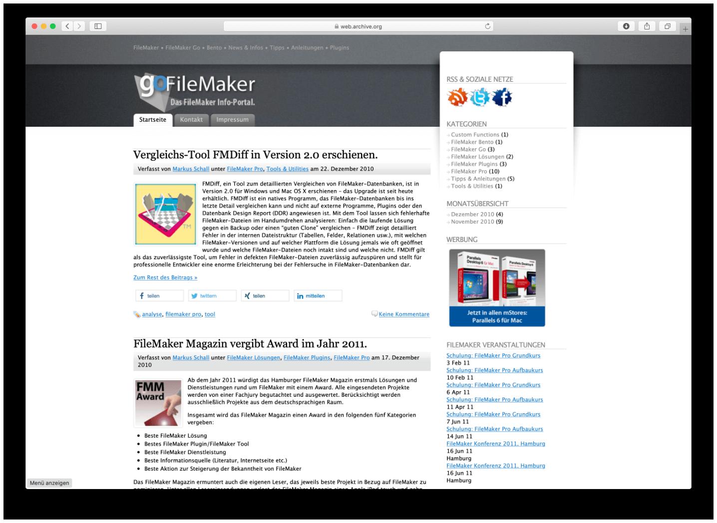 gofilemaker.de ist seit Ende 2010 online