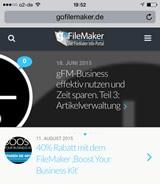 goFileMaker auf mobilen Endgeräten