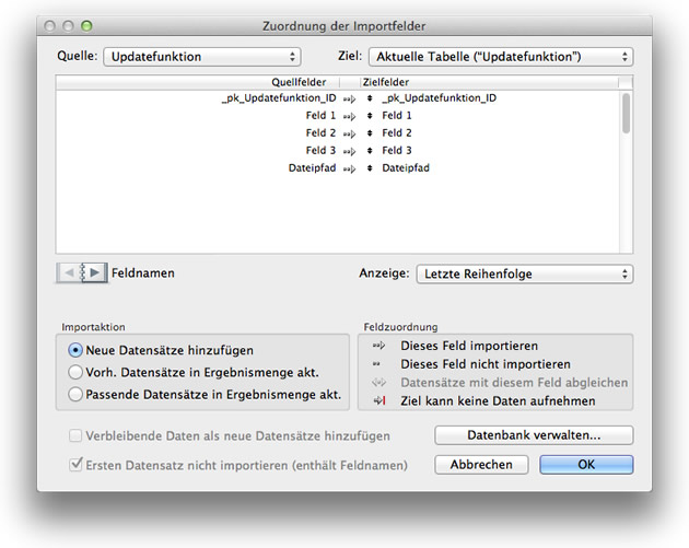 filemaker go templates - filemaker update funktion mit automatisiertem export und