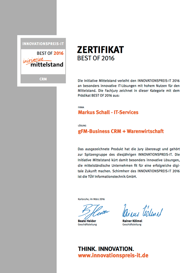 Innovationspreis-IT Best Of CRM