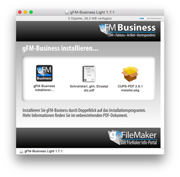 Installationspaket gFM-Business Light