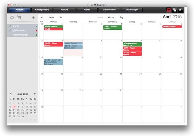 Kalender: Monatsansicht