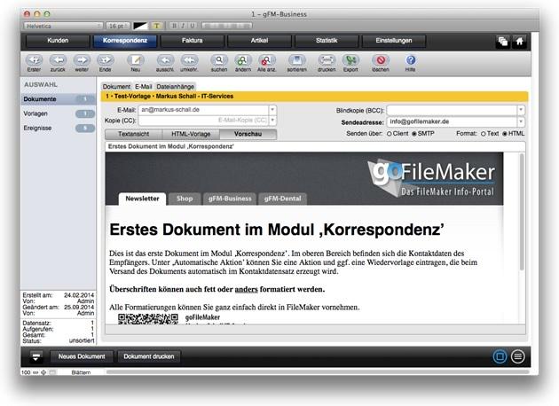 HTML E-Mails mit gFM-Business