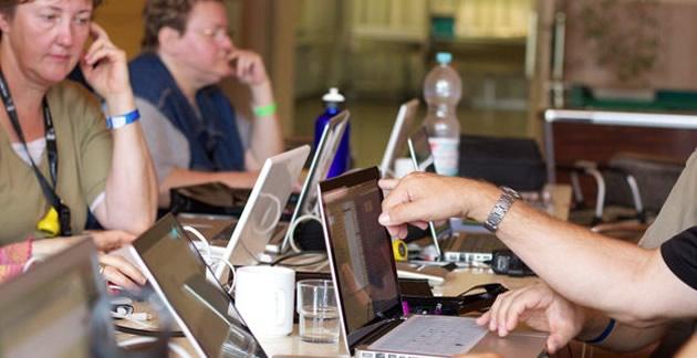 Besucher auf der Mac at Camp