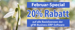 Aktion: 20% Rabatt auf gFM-Business 3.6.5 im Februar 2018