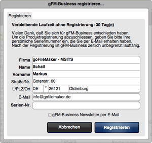 gFM-Business Registrierung