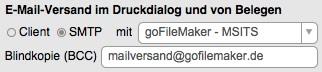 Versand von E-Mails per SMTP-Mailserver